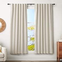 AmazonBasics 1-Inch Wall Curtain Rod with Cap Finials - 72 to 144 Inch, Black