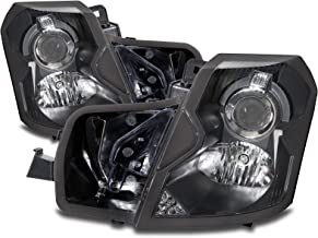 HEADLIGHTSDEPOT Halogen Headlights Compatible with Cadillac CTS 2003-2007 Includes Left Driver and Right Passenger Side Headlamps