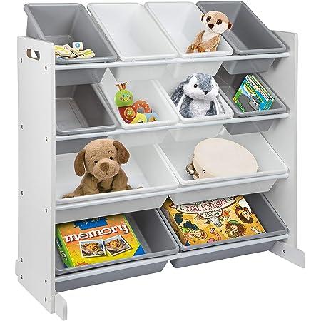 ONVAYA® Étagère pour enfant   Organiseur   Étagère à jouets avec boîtes (organisateur de jouets)