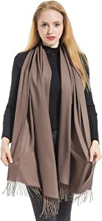 Elzama Solid Color Shawl Scarf | Large & Cashmere Soft Pashmina For Women | Winter Blanket Wrap