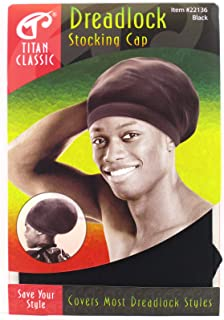 Titan Classic Dreadlock Stocking Cap - Black & White, Expandable, breathable, stretchable, comfortable fabric, fabric, covers hair style