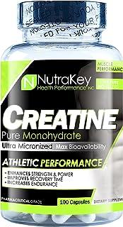 NutraKey Creatine Monohydrate Capsules, 100 Count