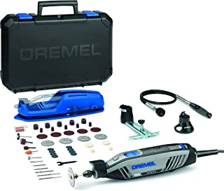 Dremel 4300 Rotary Tool 175W, Multi Tool Kit with 3 Attachments, 45 Accessories and Front LED Light, Variable Speed 5000-3...