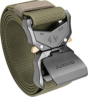 """JUKMO Tactical Belt, Military Hiking Rigger 1.5"""" Nylon Web Work Belt with Heavy Duty Quick Release Buckle"""