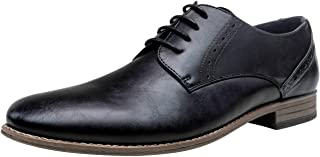VOSTEY Men's Dress Shoes Formal Oxford Shoes Classic Lace Up Derby Shoe