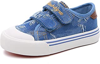 Henraly Boys Denim Canvas Shoes Classic Low Top Henraly Kids Sneakers Shoes (Toddler/Little Kid/Big Kid)