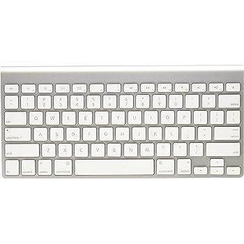 Apple Wireless Keyboard with Bluetooth - Silver (Renewed)