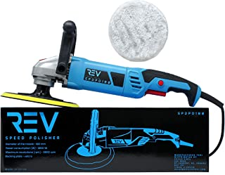 VViViD REV 3800 RPM 7 Inch 6-Speed Hand-Held Polisher and Buffer