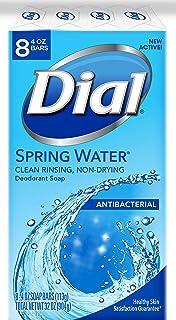 Dial Antibacterial Deodorant Soap, Spring Water, 4 Ounce, 8 Bars