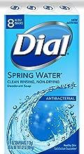Dial Antibacterial Bar Soap, Spring Water, 4 Ounce, 8 Bars