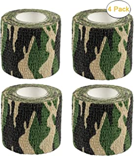 Camo Gun Wrap Tape Rifle Shotgun Camouflage Form Wrap Military Army Hunting Self-Adhesive Protective Multi-Functional Bandage for Rifles,Flashlights,Scope,Knife,Bicycle (Realtree Camo 6 Rolls)