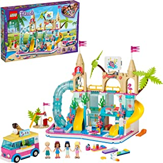 LEGO Friends Summer Fun Water Park 41430 building set with 4 mini-dolls, hot tub and accessories, Toy for Kids 8+ years ol...