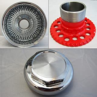 DONGFANG 13x7 Rev 100 Spoke Reverse Wire Wheels Straight Lace Chrome wheel Rims 4pcs