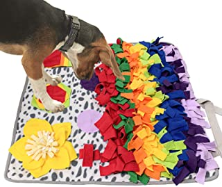 SCHITEC Snuffle Mat for Dogs, Nosework Feeding Blanket Sniffing Pad for Interactive Games, Foraging Puzzle Enrichment Toys...