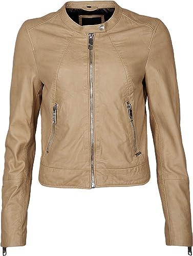 Maze Damen Bikerjacke Mit Silberfarbenen Zippern Grünada