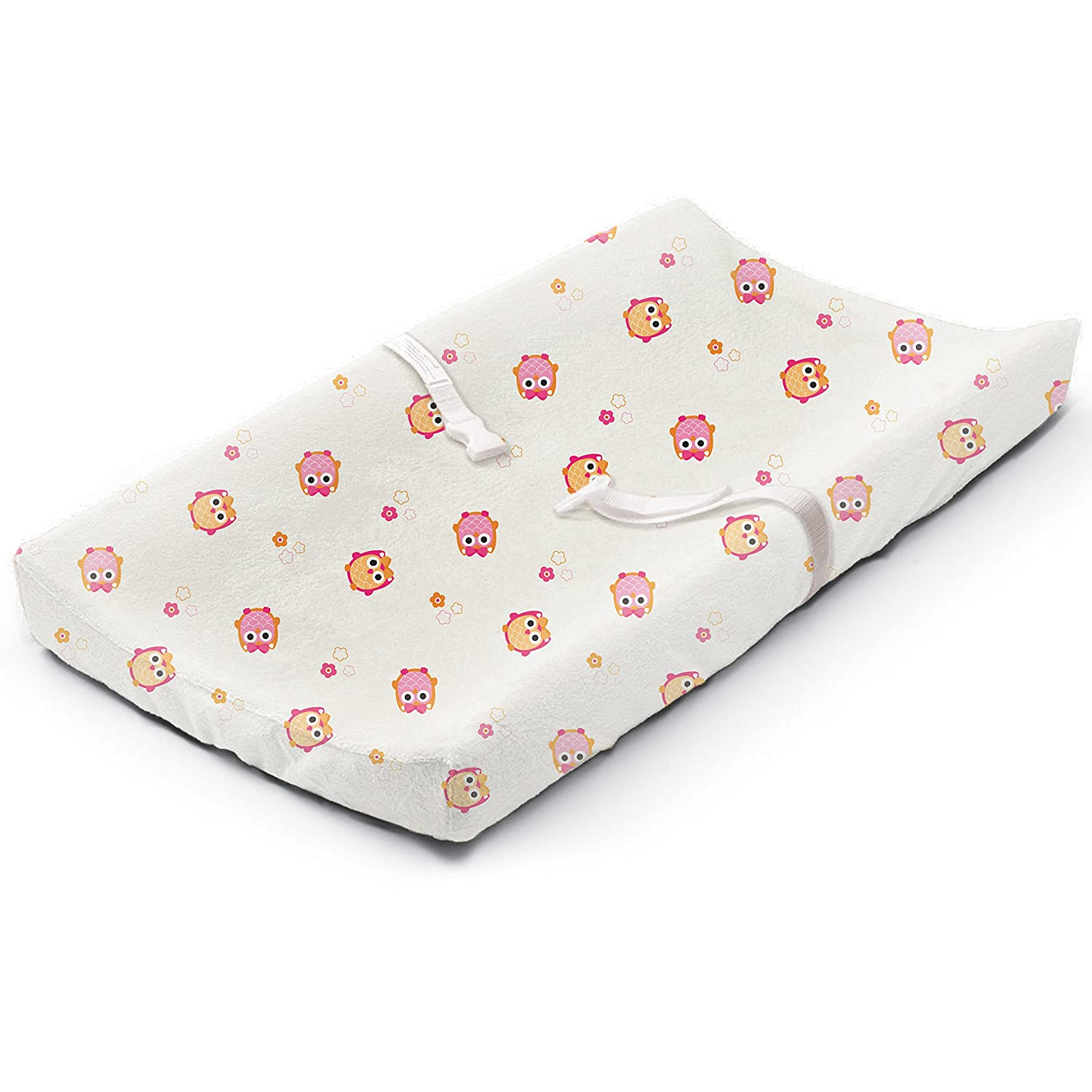 Summer Ultra Plush Changing Pad Cover, Owl Town