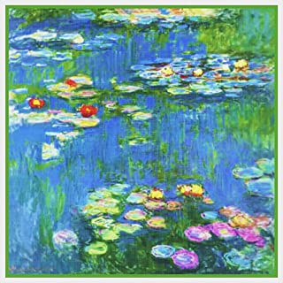 Blooming Water Lillies Monet Counted Cross Stitch Pattern