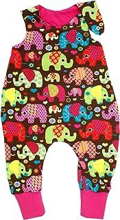 Kleine Könige Baby Strampler Mädchen Baby Body  Modell Elefantenparty pink  Ökotex 100 zertifiziert  Größen 50-92