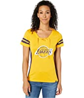 Los Angeles Lakers Gem Topmark Turnover V-Neck Tee