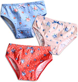 ac9c53fb38 Vaenait baby 2T-7T Girls Briefs 100% Cotton Underwear Set (Pack of 3