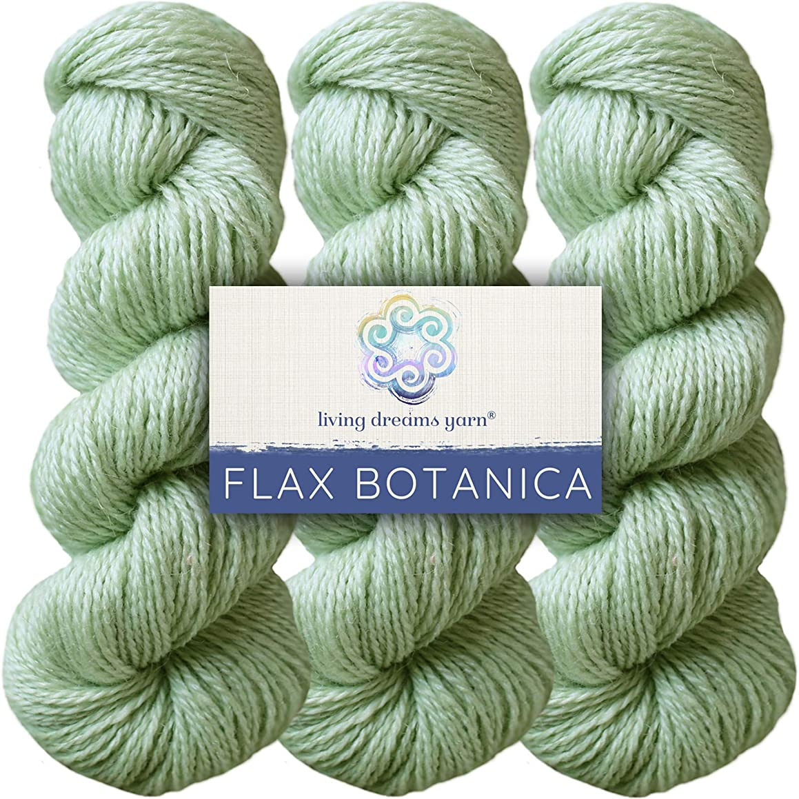 Living Dreams Flax Botanica DK Yarn. Elegant Merino Linen Silk. Cruelty Free & Responsibly Sourced. Pacific Northwest Handmade. Bulk Discount Pack, Pistachio