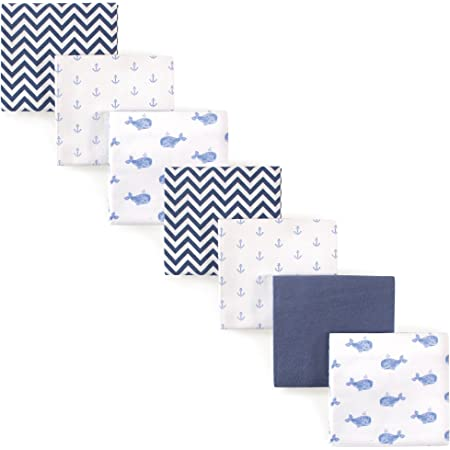 Amazon Com Hudson Baby Unisex Baby Cotton Flannel Receiving Blankets Bundle Blue Whale One Size Baby