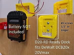 Dewalt Battery Holder DCB 20V Cover Mount Store Ready Dock, USA D20-RDx8 *8Pack*