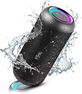 RIENOK Bluetoothスピーカー 30W IP67防塵防水 Bluetooth5.0 完全ワイヤレスステレオ対応 強化された低音 microSDカード対応 デュアルドライバー 内蔵マイク ハンズフリー機能 通信でき USB Type-...