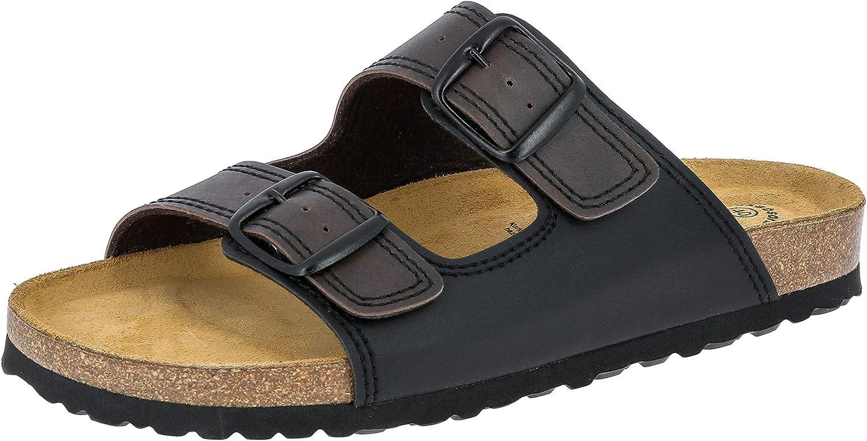 Lico Men's セールSALE%OFF Bioline Man ◆セール特価品◆ Soft Low-Top Black Slippers Bro Schwarz