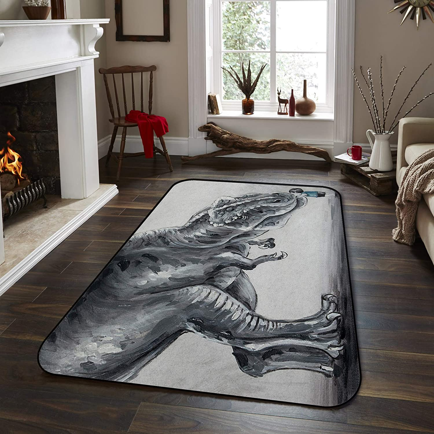 Soft 70% OFF Outlet Area Rugs for Bedroom Lovely Ranking integrated 1st place Boy Dinosaur in The F Touching