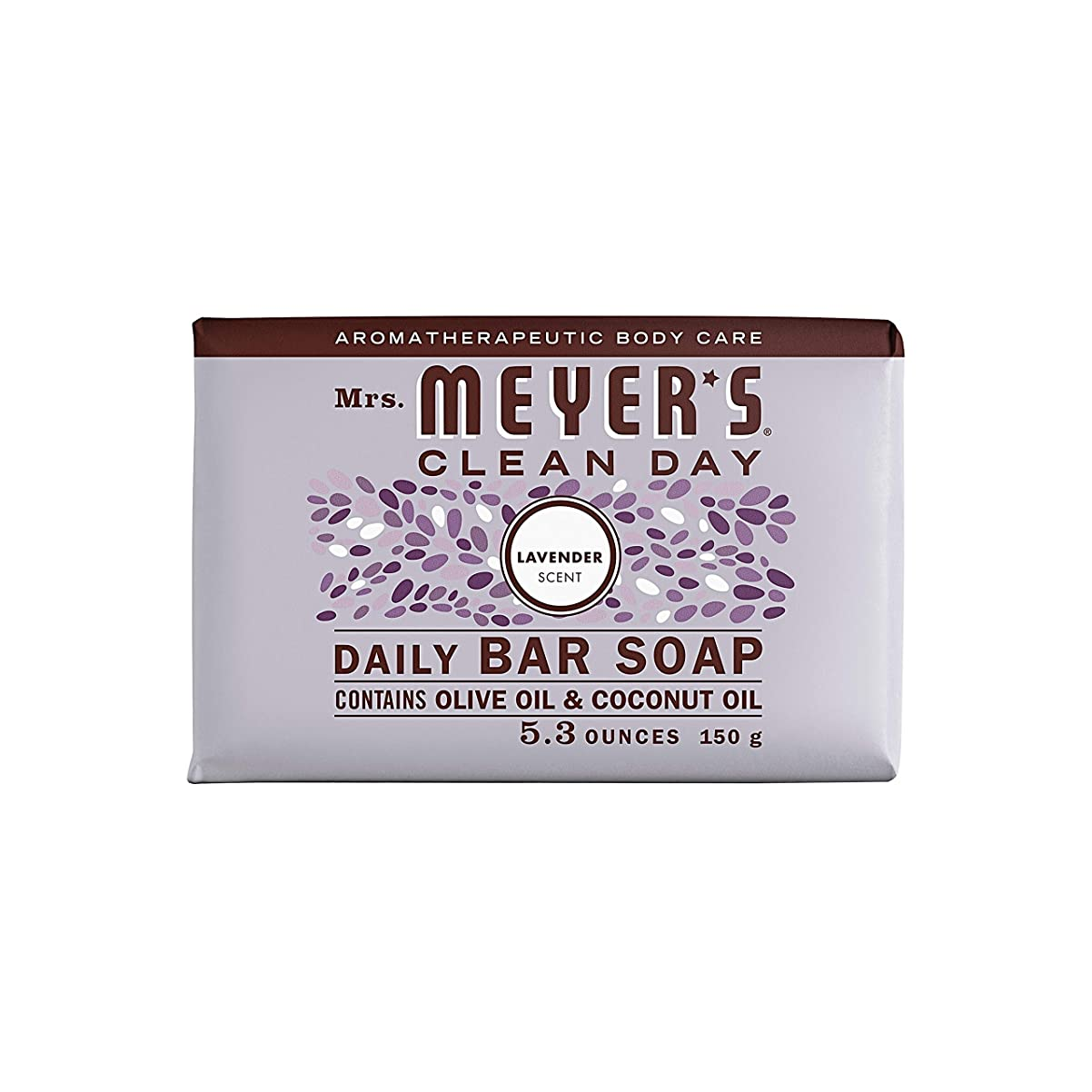 予報有能な天のBar Soap - Lavender - 5.3 oz - Case of 12 by Mrs. Meyer's