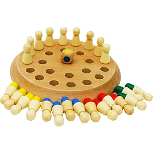 TOWO Wooden Memory Games for kids and Grown Ups - Family Board Games for Kids and Adults -Wooden Mind Games for 3 years old- Wooden Educational Toys