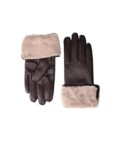 Echo Design Faux Fur Cuff Gloves (Fig) Extreme Cold Weather Gloves