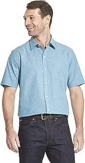 Men's Air Short Sleeve Button Down Solid Shirt