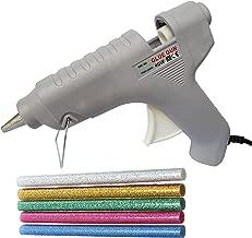 GLUN 40W Hot Melt Glue Gun with 5 Glitter Gluesticks