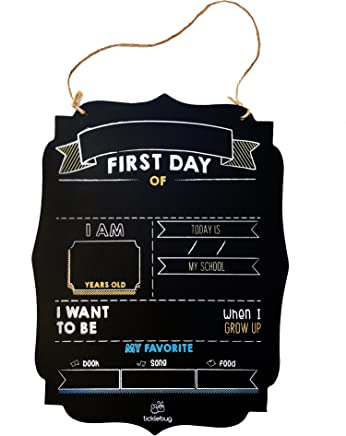 4030ef841 Fayfaire First Day of School Chalkboard - Back to School Sign for 1st Day  of School