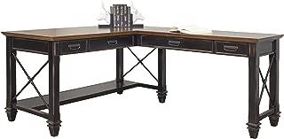 Martin Furniture Hartford Open L-Shaped Desk, Brown