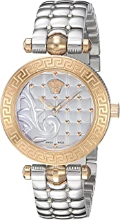 Versace Women's 'Vanitas Micro' Swiss Quartz Stainless Steel Watch, Color:Silver-Toned (Model: VQM110016)