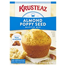 Krusteaz Almond Poppy Seed Muffin Mix, 17-Ounces