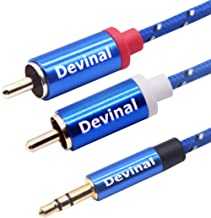 3.5mm to RCA Cable, Devinal 10 Feet 1/8 inch Male to 2RCA/Phono Male Gold Plated Cord, AUX Auxiliary Headphone Jack Plug Converter to Left/Right Stereo 2 RCA Wire Connector
