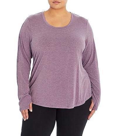 Marika Plus Size Peekaboo Long Sleeve T-Shirt