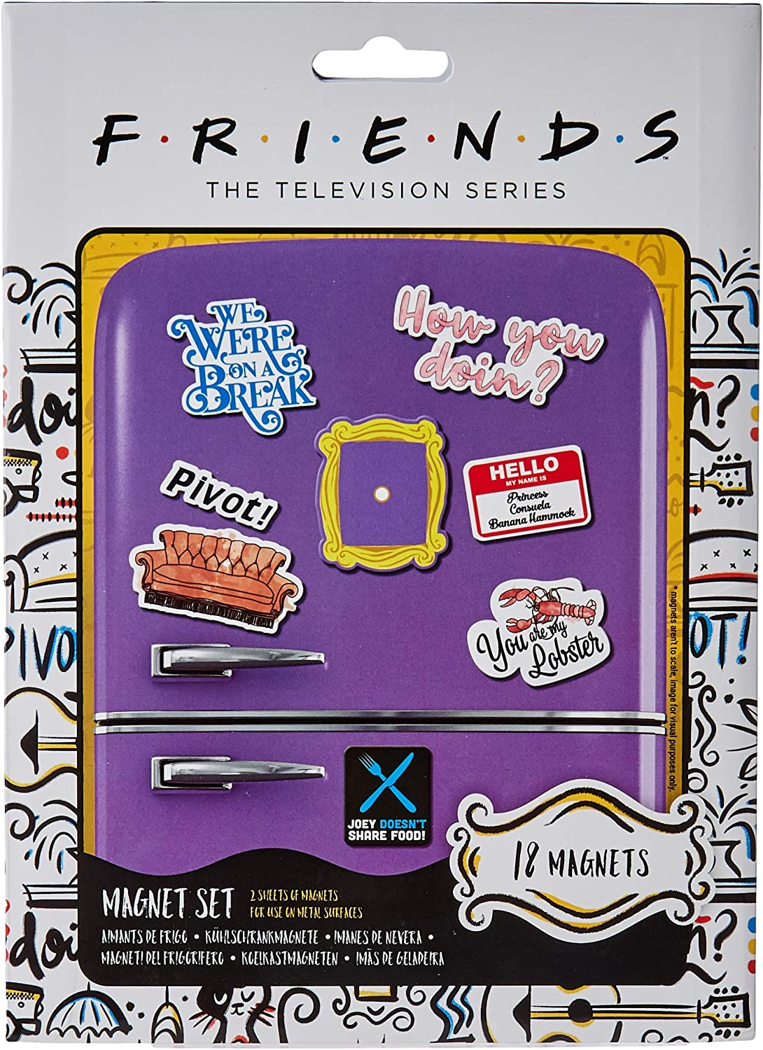 8. Friends Multi Coloured Magnets