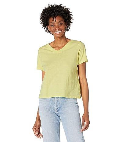 Eileen Fisher V-Neck Short Sleeve Top in Slubby Organic Cotton Jersey