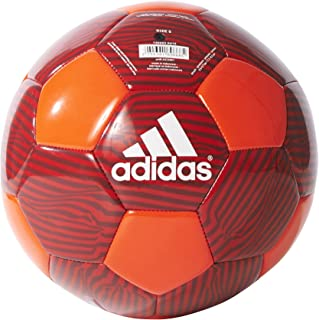 22e9d0177dcb adidas Performance MUFC Soccer Ball, 5, Solar Red/Scarlet/Black/White