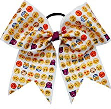 The Ultimate Bow - Emoji Cheer Bow Pony Tail