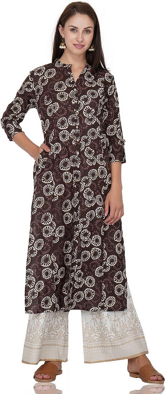 Shalvi Women's Cotton Front Button Kurti