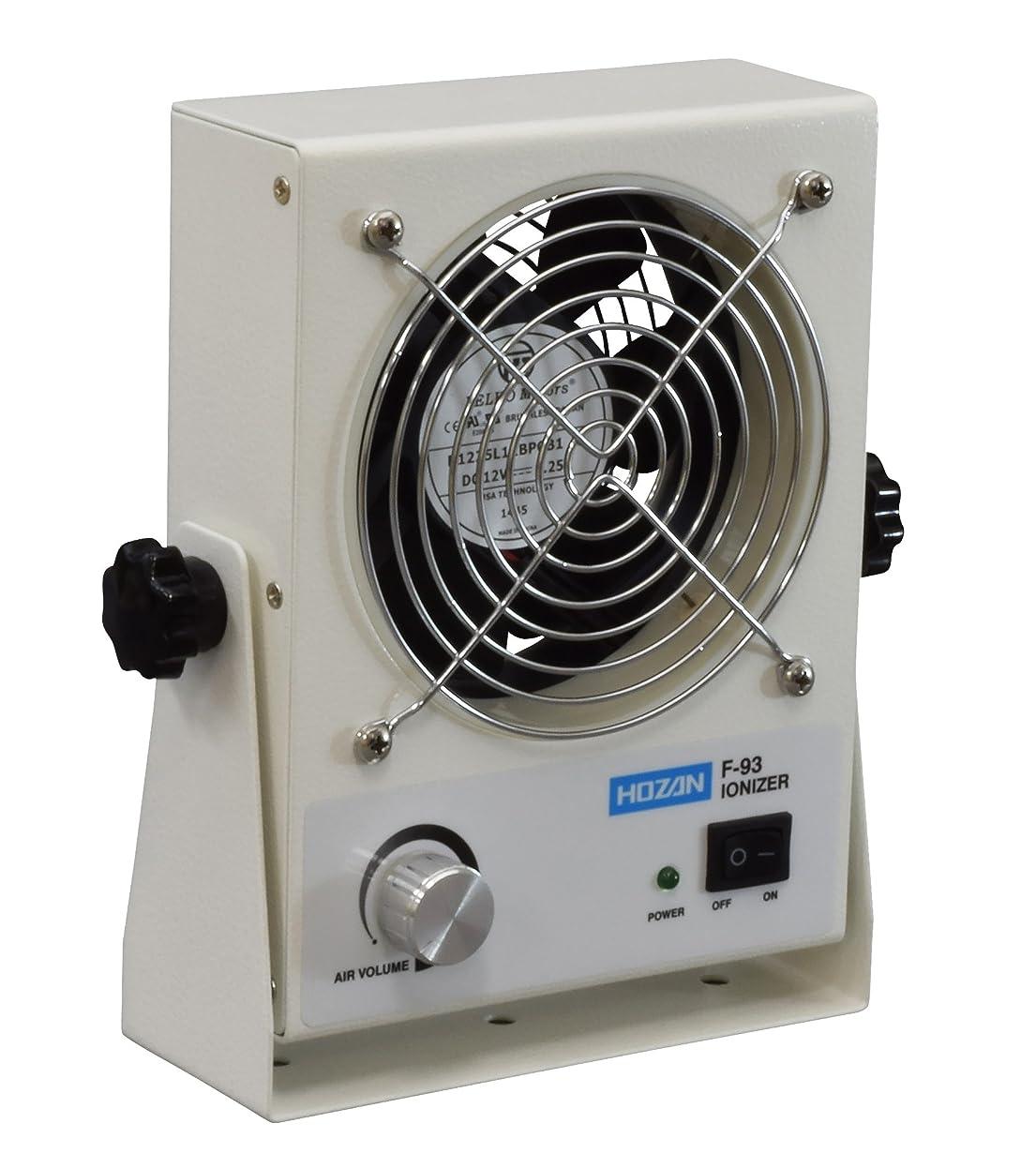 すきインペリアルマーティフィールディングホーザン(HOZAN) イオナイザー 除電器 直流式卓上イオナイザー コンパクトでありながら、大風量で広い範囲をしっかり除電  F-93