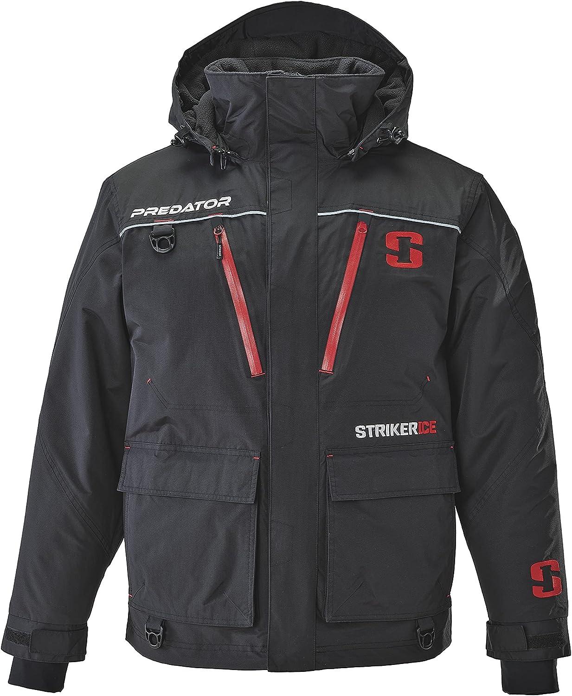 StrikerICE Predator Jacket, Warm Waterproof Fishing Jacket for Men with Sureflote Technology, Black 3XLT…