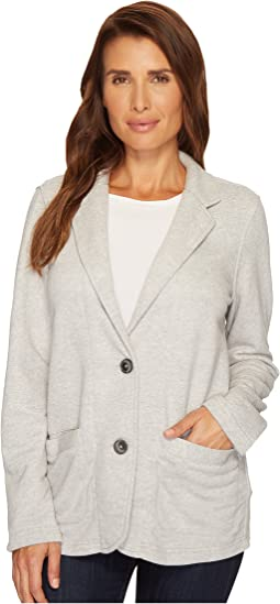 Mod-o-doc - Boyfriend Blazer Buffalo Check with French Terry