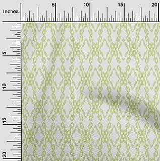 oneOone Viscose Chiffon Fabric Swirl & Geometric Ikat Print Sewing Fabric BTY 42 Inch Wide